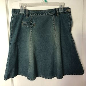 Vintage A-line Jeans Denim Skirt